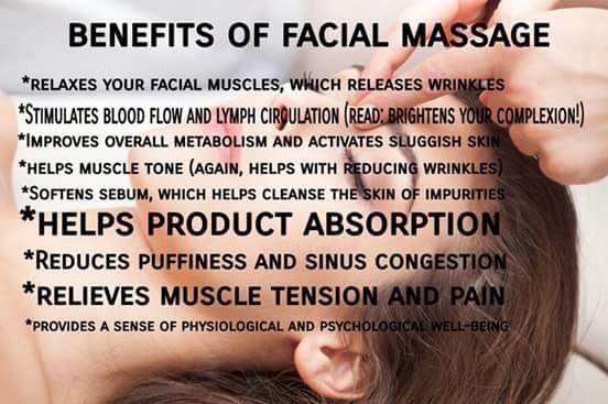 Face lift massage facial